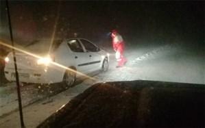 امدادرسانی به بیش از ۱۵۰۰ نفر در پی برف و کولاک