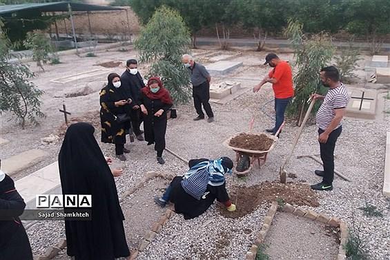 کاشت درخت  به مناسبت چهارشنبه سوری در اهواز