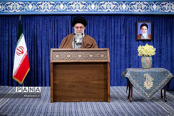 آغاز سخنرانی نوروزی رهبر انقلاب اسلامی