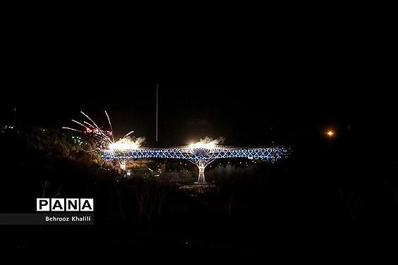 نورافشانی ویژه پُل طبیعت در شب نوروز ۱۴۰۰