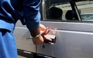 سارق محتویات داخل خودرو گرفتار قانون شد