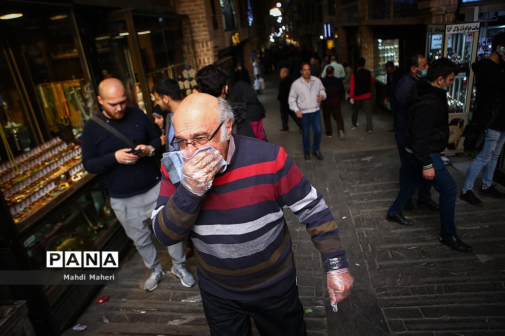 تهران در وضعیت قرمز بدون ماسک