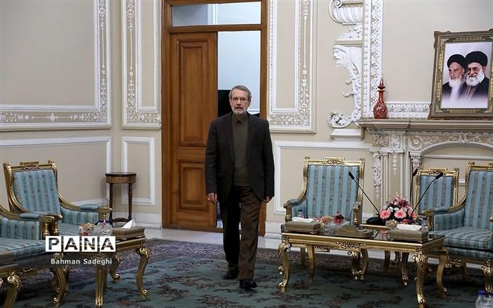 دیدار رئیس مجلس با مسئول سیاست خارجی اتحادیه اروپا