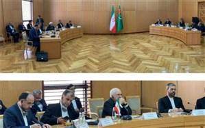 گفتوگوی ظریف با مقامات ترکمنستان درباره همکاریهای چندجانبه