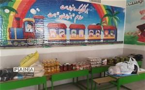 توزیع بیش از 750 بسته معیشتی بین دانش آموزان نیازمند در مدارس فلاورجان
