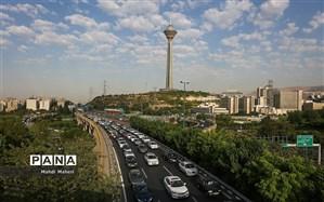 افزایش حجم ترافیک در اکثر بزرگراههای تهران