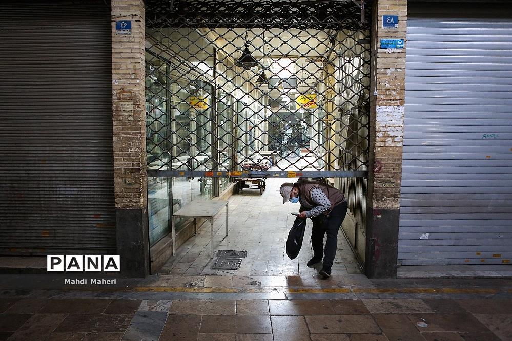 تعطیلی بازار تهران در وضعیت قرمز کرونایی