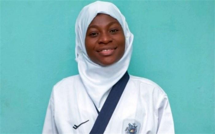 تکواندوکار مسلمان نیجریه ای ۸ ماهه باردار بود مسابقه داد و طلا هم گرفت!