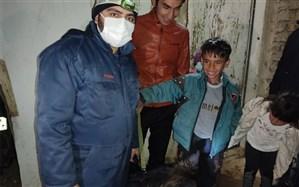 پیدا شدن کودک زنجانی مفقودی توسط امدادگران هلال احمر