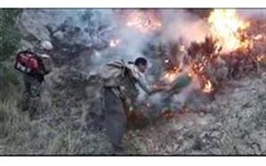 آتش سوزی جنگلهای کوه خامی گچساران پس از ۳ روز مهارشد
