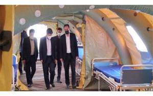 برپایی بیمارستان صحرایی 60 تختخوابی در اردبیل
