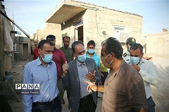 بازدید معاون سیاسی، امنیتی و اجتماعی استاندار بوشهر از مناطق زلزله  گناوه