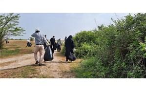پاکسازی پارک ملی بوجاق کیاشهر از زباله