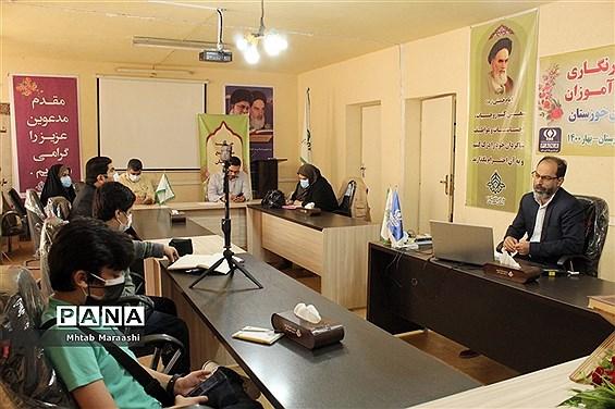 بازدید معاون پرورشی و فرهنگی اداره کل آموزش و پرورش از سازمان دانش آموزی خوزستان
