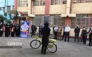 کارکنان آموزش و پرورش منطقه ۱۲ تهران به دوچرخه سواران شهر پیوستند