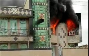 خانه معلم  شهرستان چرام در آتش سوخت