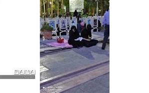برگزاری مراسم شب زنده داری شب قدر ۱۹ ماه مبارک رمضان در گلزار شهدای اصفهان