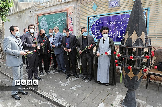 مراسم گلباران محل شهادت شهید مطهری و گرامیداشت روز معلم