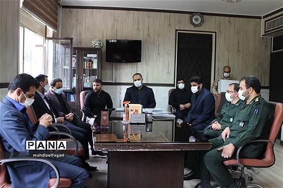 دیدار فرمانده سپاه حضرت عبدالعظیم حسینی (ع) با  مدیر آموزش و پرورش ناحیه دو شهر ری