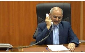 تماس تلفنی حاجی میرزایی با خانواده شهدای فرهنگی