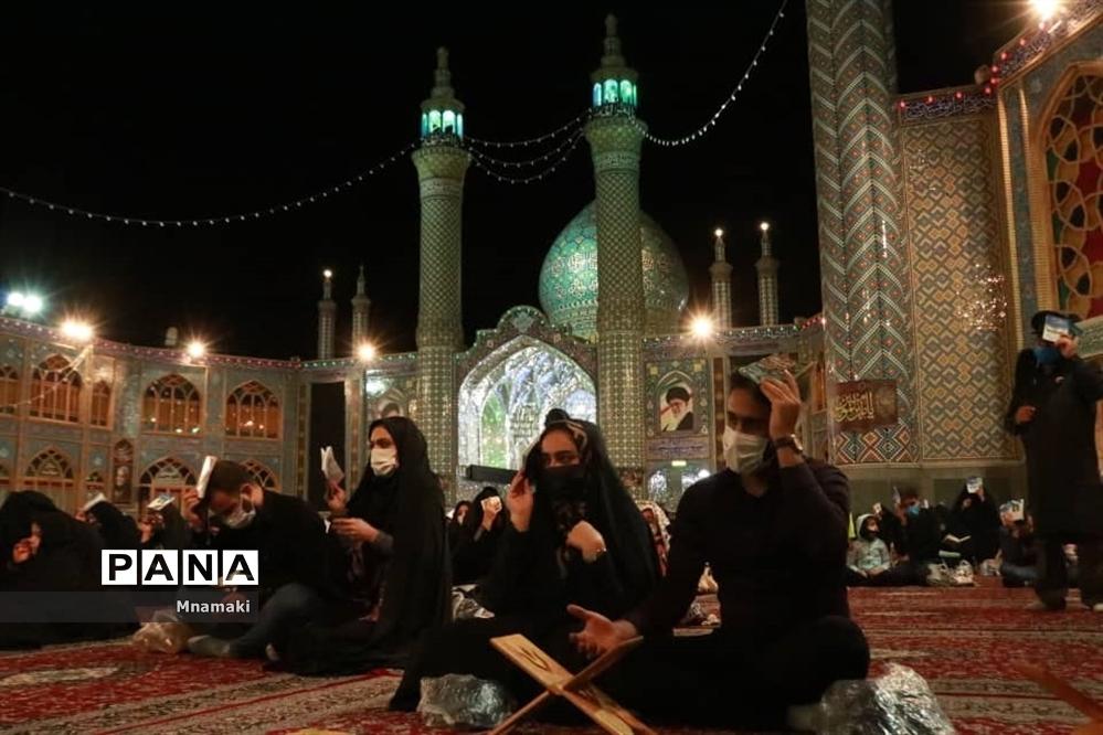 مراسم احیا شب بیست و یکم رمضان در صحن حرم مطهر حضرت محمد هلال بن علی (ع)