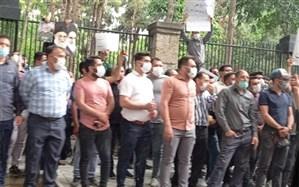 تجمع کیوسکداران مطبوعاتی مقابل شورای شهر تهران