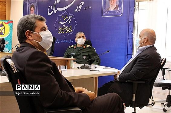 نشست  ستاد استانی مقابله با کرونا استان خوزستان