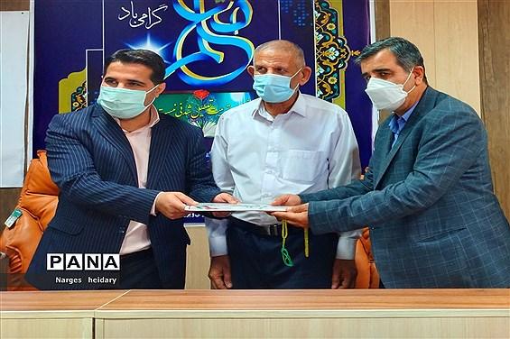 آیین تقدیر از فعالان حوزه سازمان دانشآموزی و معلمان نمونه بسیجی در شهرستان امیدیه