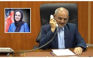 گفتوگوی تلفنی حاجی میرزایی با سرپرست وزارت معارف افغانستان