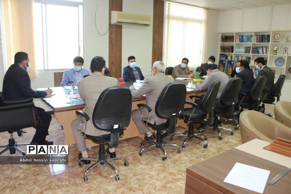 جلسه میز کارشهرستانها و مناطق معاونت پرورشی و فرهنگی آموزش و پرورش استان بوشهر