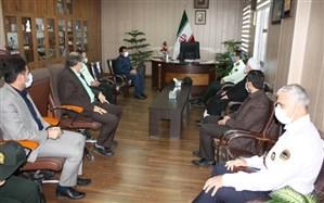 نشست فرمانده انتظامی استان با مدیرکل آموزش و پرورش زنجان
