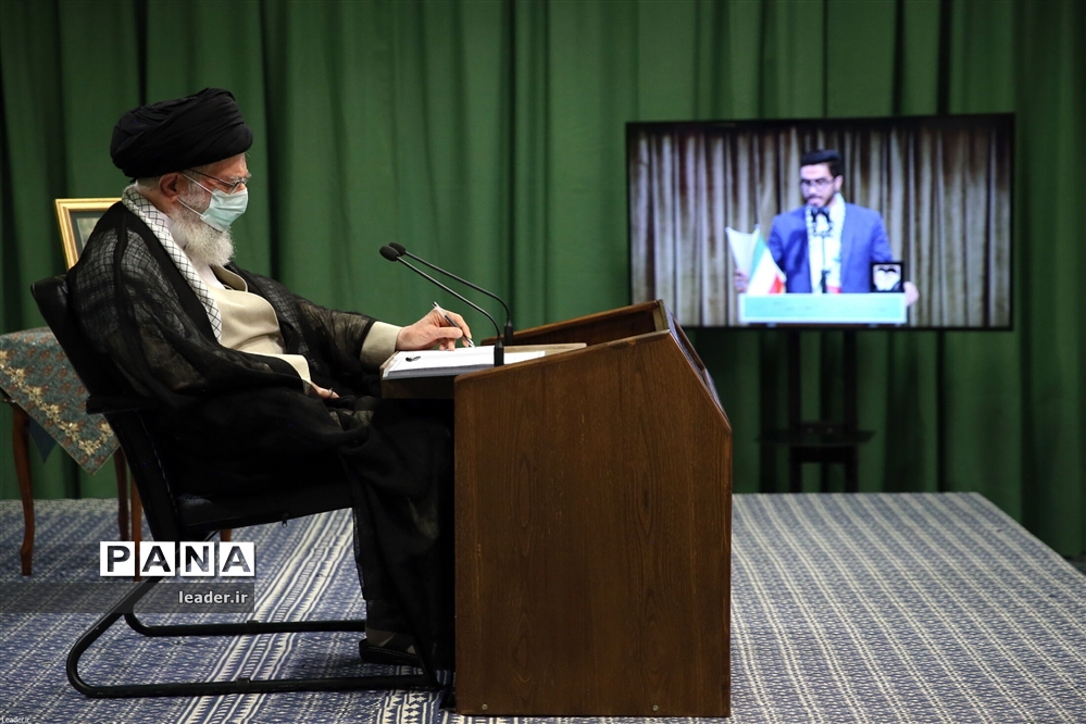 نشست تصویری تشکلهای دانشجویی با رهبر معظم انقلاب اسلامی