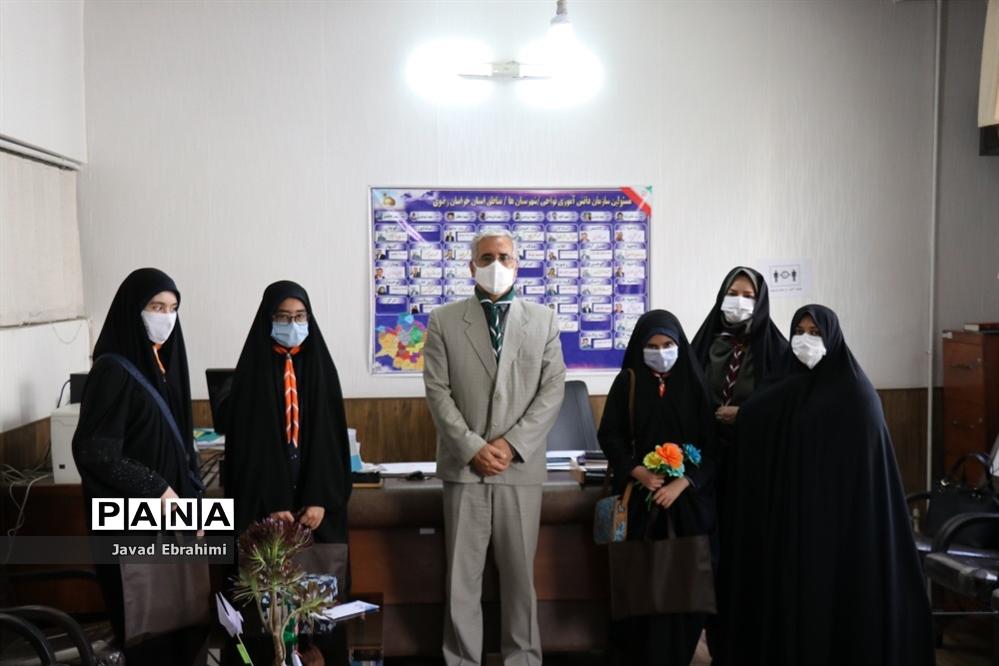حضور پیشتازان در سازمان دانش آموزی خراسان رضوی  و تبریک سالروز تاسیس