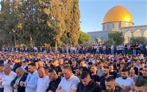 اقامه نماز عید فطر در مسجدالاقصی با حضور 100هزار فلسطینی