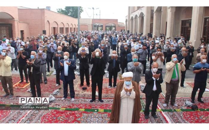 برگزاری نماز عید سعید فطر با رعایت پروتکل های بهداشتی در گرگان