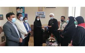 مسئول سازمان دانش آموزی شهرستان میناب تقدیر شد