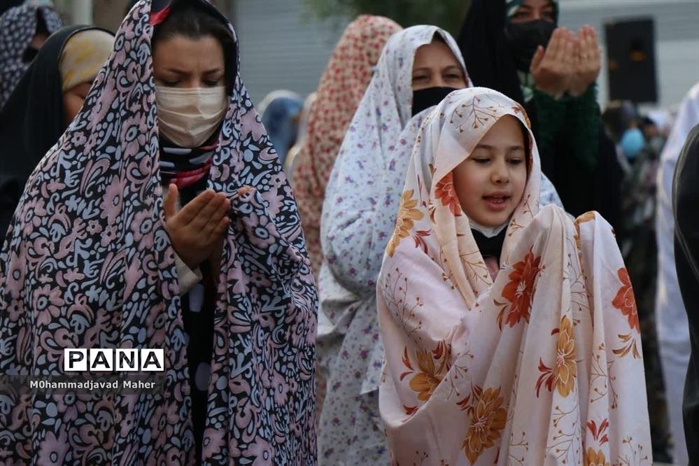 برگزاری نماز عید سعید فطر در فضای باز مصلی شهرستان قدس