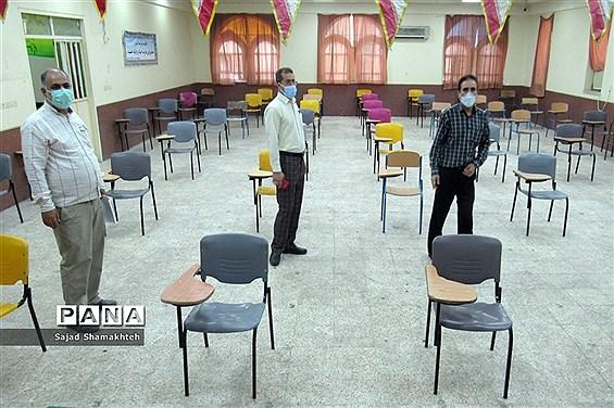 آماده سازی حوزه های امتحانی در ناحیه 3 اهواز