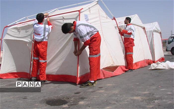 ۱۵۰ چادر در مناطق زلزله زده خراسان شمالی برپا شد