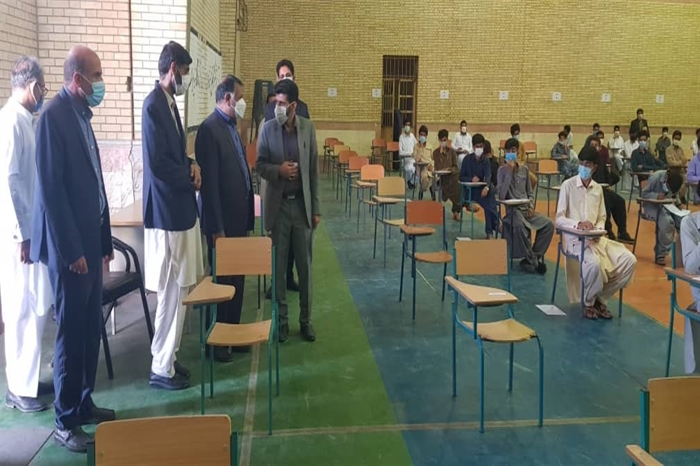 بازدید مدیرکل آموزش و پرورش سیستان و بلوچستان ازحوزههای امتحانی