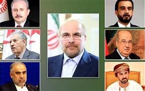 رایزنی قالیباف و روسای مجالس ۶ کشور درباره جنایت صهیونیستها در غزه