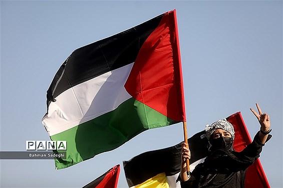 تجمع حمایت از مردم فلسطین در میدان امام حسین(ع)