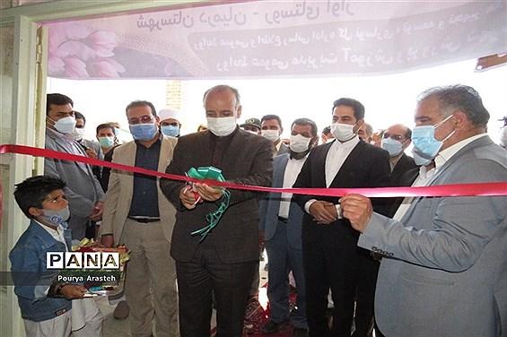 افتتاحیه آموزشگاه 6 کلاسه برکت روستای آوازشهرستان درمیان