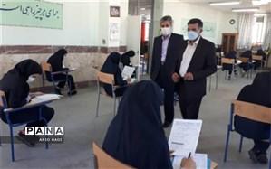 بازدید فرماندار شهرستان صحنه  از حوزه های امتحانی