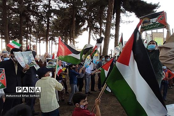 حمایت دانشآموزان سیستان و بلوچستان از مردم مظلوم فلسطین