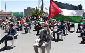 فریاد حمایت فرهنگیان از مردم غزه در بیرجند