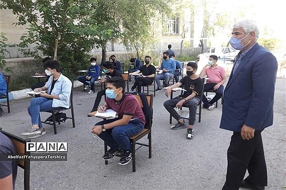 بازدید از امتحانات  پایه نهم دبیرستان سما در فضای باز
