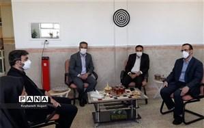 بازدید رئیس مرکز حراست وزارت آموزش و پرورش از حوزههای امتحانی شهرستان قرچک