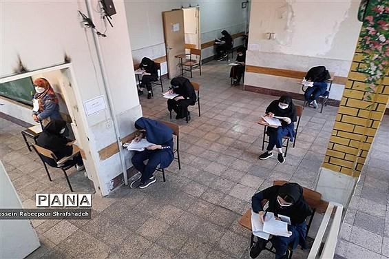 بازدید مدیرکل امور شاهد و ایثارگران وزارت آموزش و پرورش از حوزه امتحانات نهایی منطقه 16 تهران