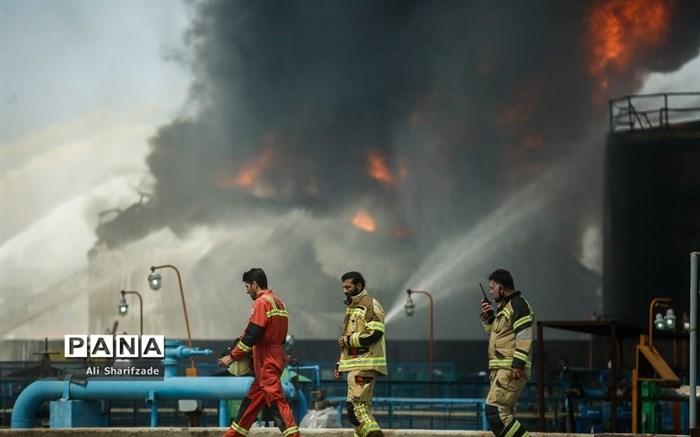 آتشسوزی در پالایشگاه نفت تهران